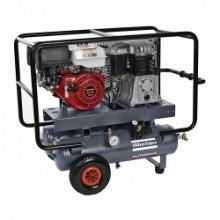 10 BAR - 25 + 25 L - 570 L/MIN Atlas Copco Automan AC 71 E 25 + 25 R/RAMA/ Petrol Typ: olejowa
