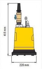 ELEKTRYCZNA POMPA ZANURZALNA WEDA 04 B do wody zbiera do 1 mm